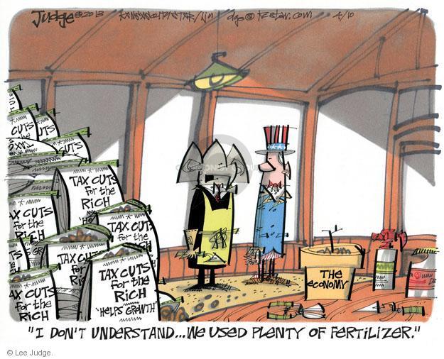 Cartoonist Lee Judge  Lee Judge's Editorial Cartoons 2013-04-10 recession