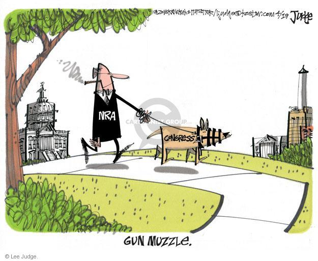Cartoonist Lee Judge  Lee Judge's Editorial Cartoons 2013-04-19 gun rights