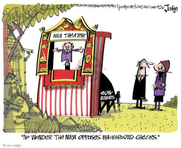 Cartoonist Lee Judge  Lee Judge's Editorial Cartoons 2013-04-26 gun rights