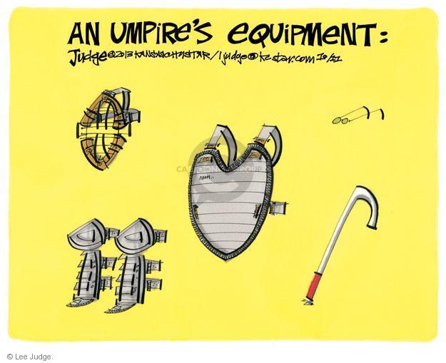 An Umpires Equipment.