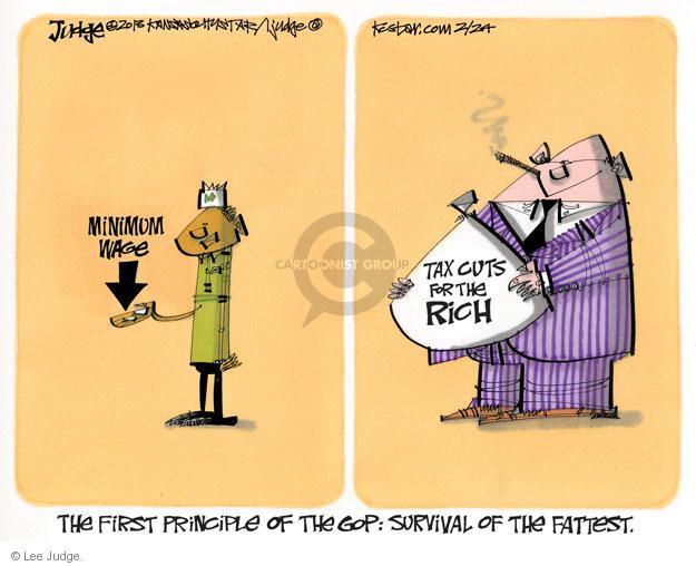 Cartoonist Lee Judge  Lee Judge's Editorial Cartoons 2013-02-24 minimum tax