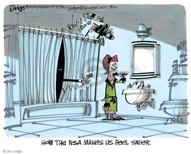 Lee Judge  Lee Judge's Editorial Cartoons 2013-08-21 privacy