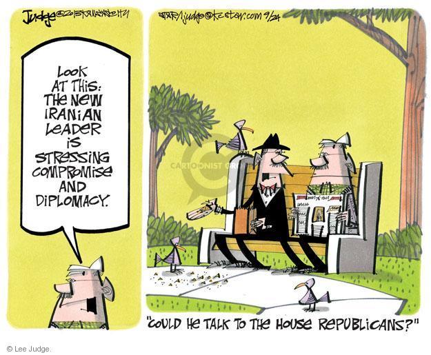 Cartoonist Lee Judge  Lee Judge's Editorial Cartoons 2013-09-24 talk