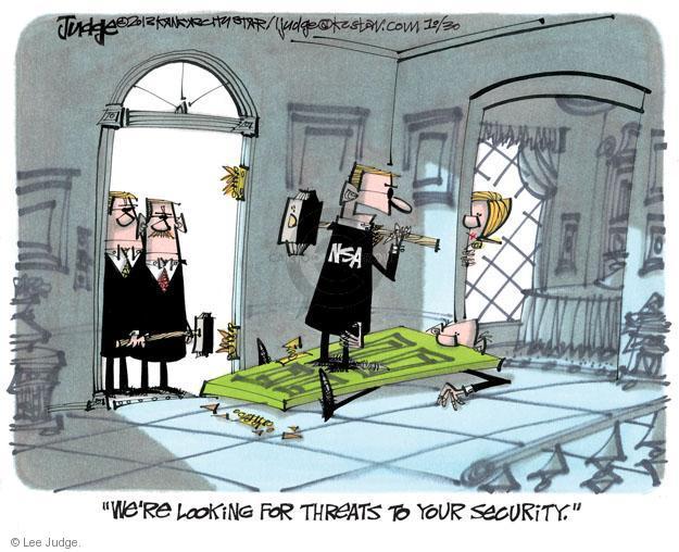 Lee Judge  Lee Judge's Editorial Cartoons 2013-10-30 privacy