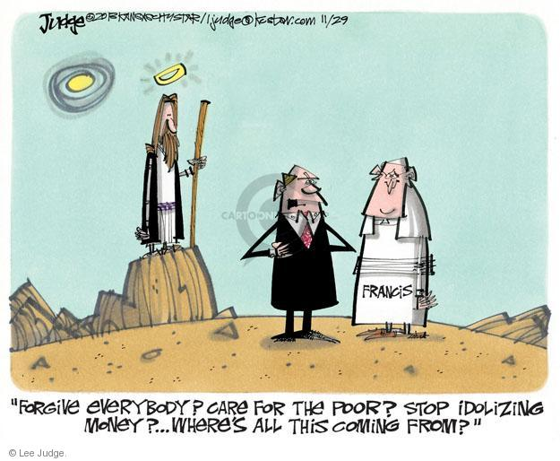 Cartoonist Lee Judge  Lee Judge's Editorial Cartoons 2013-11-29 denounce