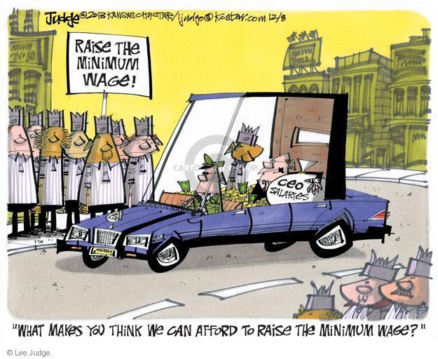 Lee Judge  Lee Judge's Editorial Cartoons 2013-12-08 income inequality