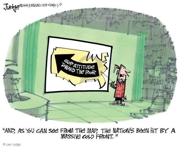 Lee Judge  Lee Judge's Editorial Cartoons 2014-01-07 income inequality