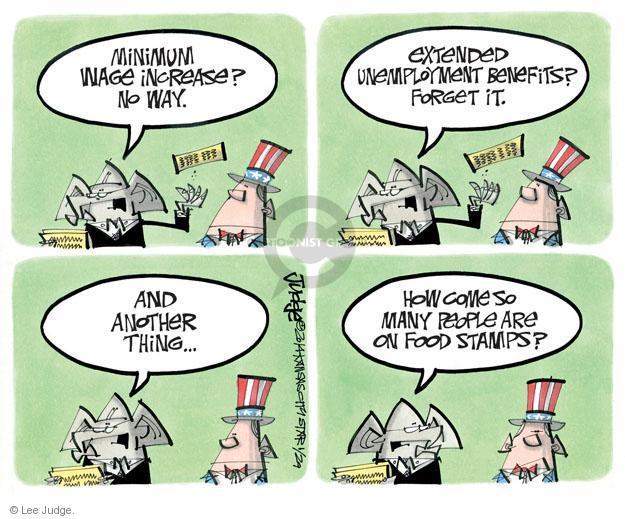 Cartoonist Lee Judge  Lee Judge's Editorial Cartoons 2014-01-29 unemployment