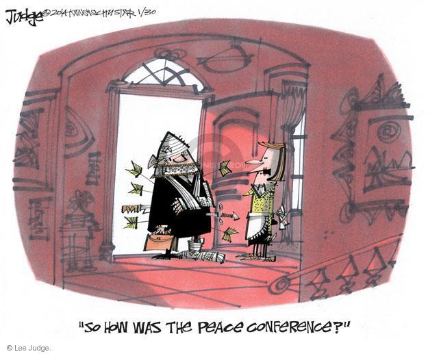 Lee Judge  Lee Judge's Editorial Cartoons 2014-01-30 diplomacy