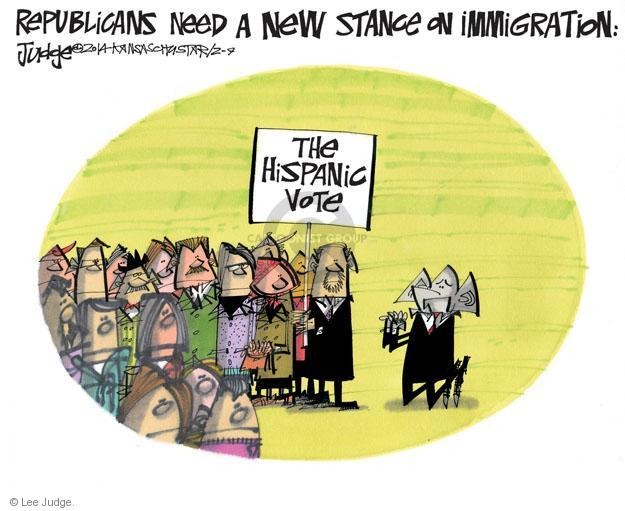 Cartoonist Lee Judge  Lee Judge's Editorial Cartoons 2014-02-09 immigrant