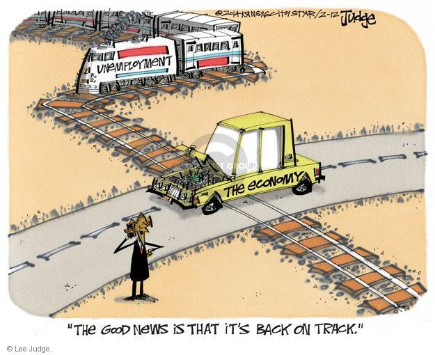 Lee Judge  Lee Judge's Editorial Cartoons 2014-02-12 economy