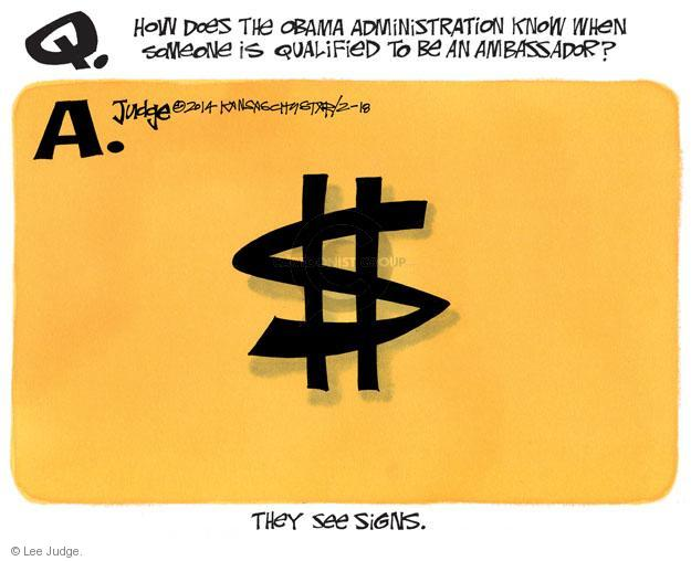 Lee Judge  Lee Judge's Editorial Cartoons 2014-02-18 money