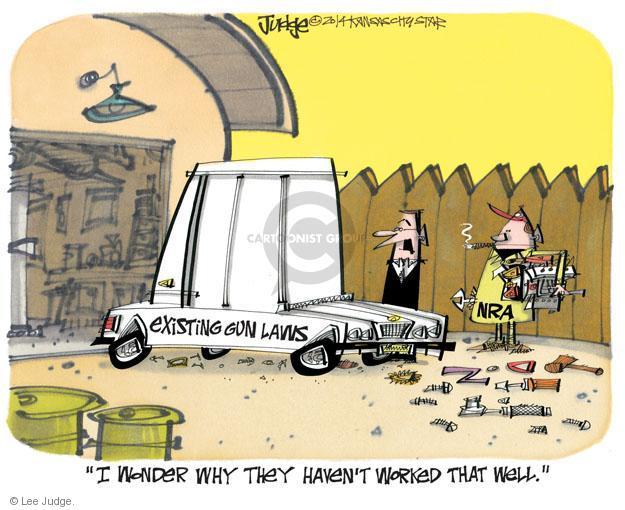 Lee Judge  Lee Judge's Editorial Cartoons 2014-02-19 assault weapon