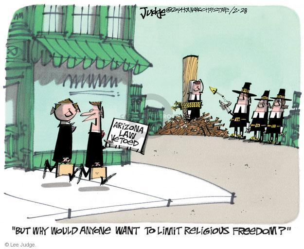 Lee Judge  Lee Judge's Editorial Cartoons 2014-02-28 freedom