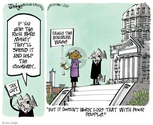 Cartoonist Lee Judge  Lee Judge's Editorial Cartoons 2014-01-22 minimum tax
