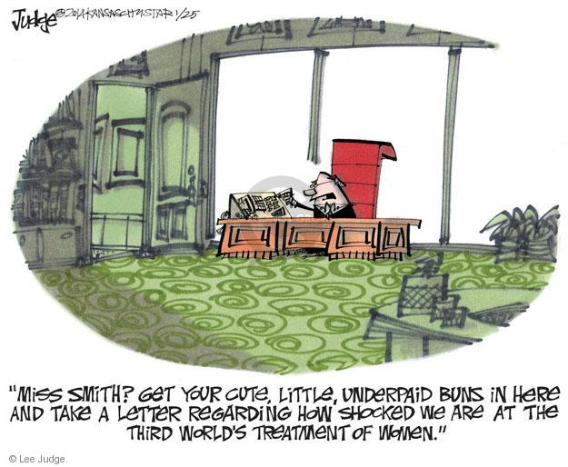 Lee Judge  Lee Judge's Editorial Cartoons 2014-01-25 income equality