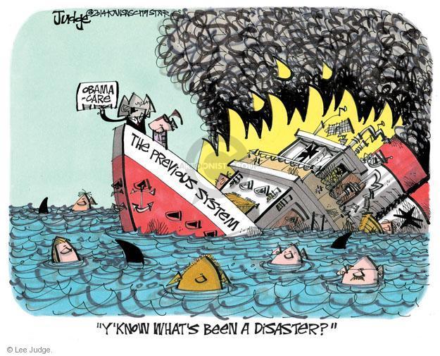 Lee Judge  Lee Judge's Editorial Cartoons 2014-01-26 Obamacare