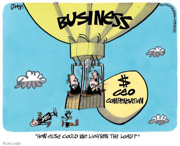 Lee Judge  Lee Judge's Editorial Cartoons 2014-03-18 economy