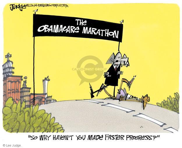 Lee Judge  Lee Judge's Editorial Cartoons 2014-04-02 Obamacare