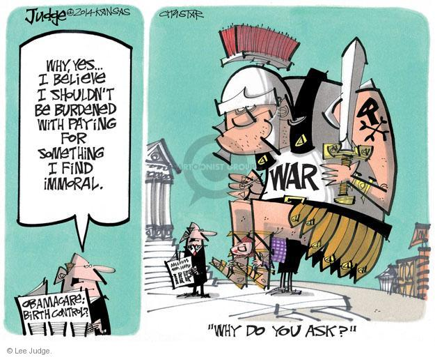 Lee Judge  Lee Judge's Editorial Cartoons 2014-04-03 Obamacare