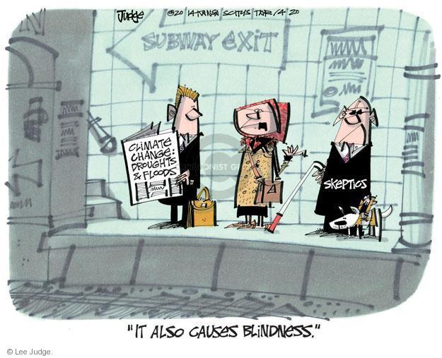 Lee Judge  Lee Judge's Editorial Cartoons 2014-04-20 blind