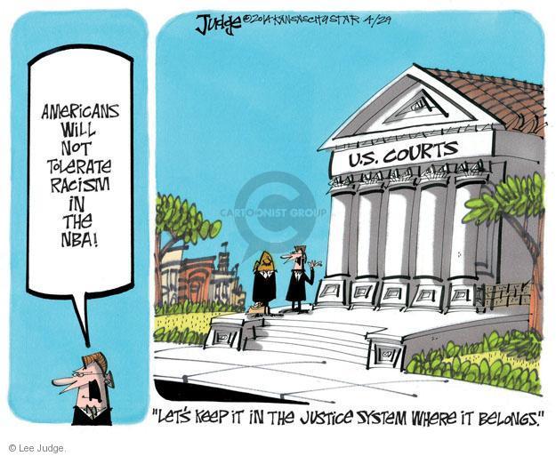 Lee Judge  Lee Judge's Editorial Cartoons 2014-04-29 racism