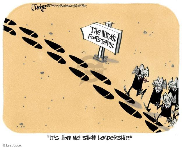 Cartoonist Lee Judge  Lee Judge's Editorial Cartoons 2014-05-01 gun rights