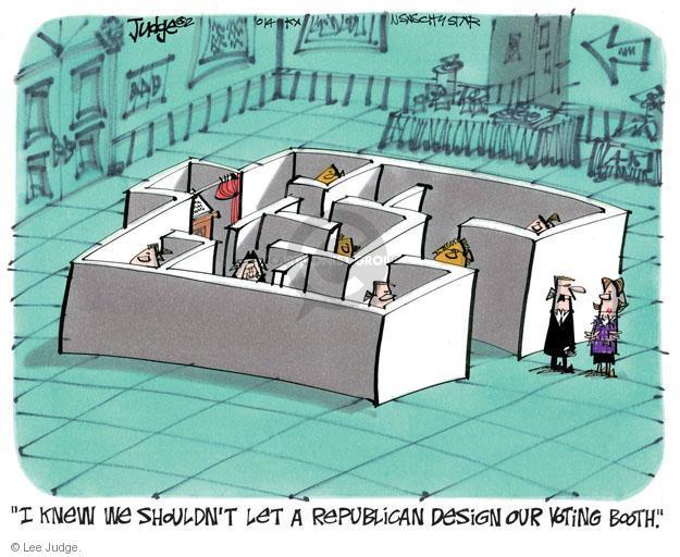 Lee Judge  Lee Judge's Editorial Cartoons 2014-05-04 voting rights