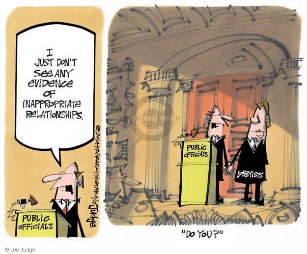 Lee Judge  Lee Judge's Editorial Cartoons 2014-04-27 political lobby
