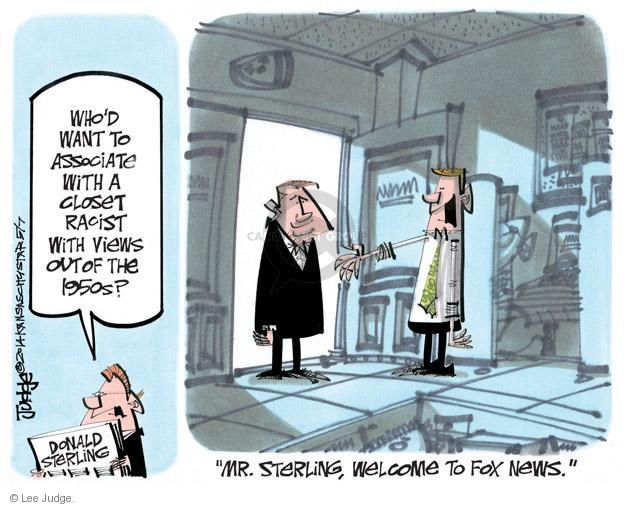 Lee Judge  Lee Judge's Editorial Cartoons 2014-05-07 racism