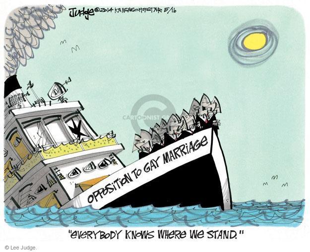 Cartoonist Lee Judge  Lee Judge's Editorial Cartoons 2014-05-16 stance