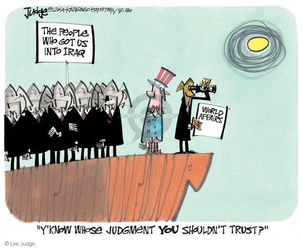 Lee Judge  Lee Judge's Editorial Cartoons 2014-05-30 force