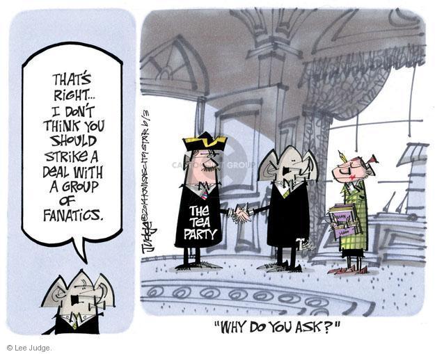 Cartoonist Lee Judge  Lee Judge's Editorial Cartoons 2014-06-03 republican party