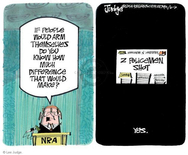 Lee Judge  Lee Judge's Editorial Cartoons 2014-06-10 rifle