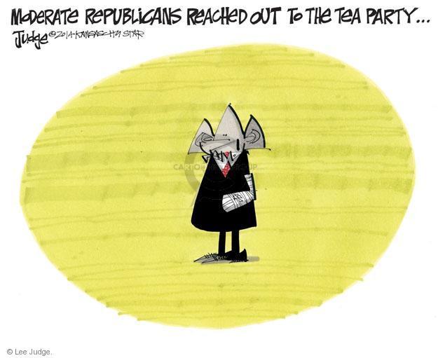 Cartoonist Lee Judge  Lee Judge's Editorial Cartoons 2014-06-14 republican party