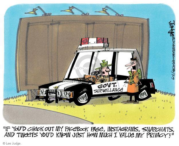 Lee Judge  Lee Judge's Editorial Cartoons 2014-07-09 privacy