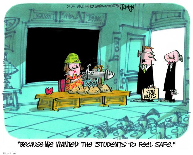 Cartoonist Lee Judge  Lee Judge's Editorial Cartoons 2014-07-24 gun rights