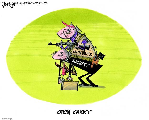 Cartoonist Lee Judge  Lee Judge's Editorial Cartoons 2014-07-25 gun rights