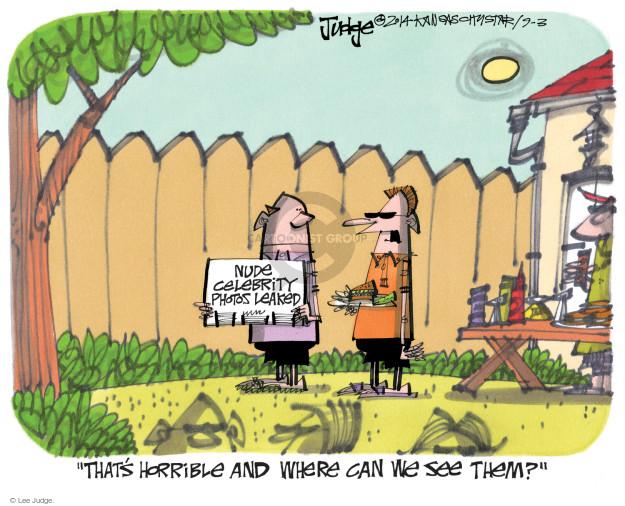 Lee Judge  Lee Judge's Editorial Cartoons 2014-09-03 privacy