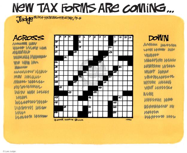 Cartoonist Lee Judge  Lee Judge's Editorial Cartoons 2014-09-05 tax return