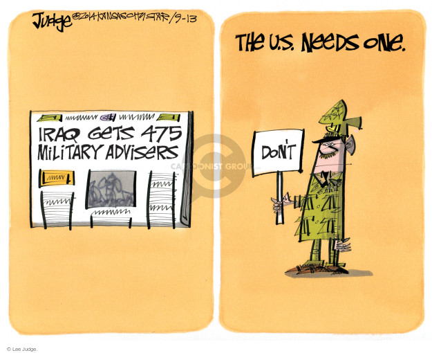Cartoonist Lee Judge  Lee Judge's Editorial Cartoons 2014-09-13 Iraq