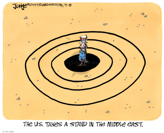Cartoonist Lee Judge  Lee Judge's Editorial Cartoons 2014-09-18 Iraq