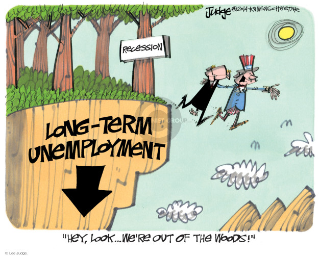 Cartoonist Lee Judge  Lee Judge's Editorial Cartoons 2014-09-24 unemployment
