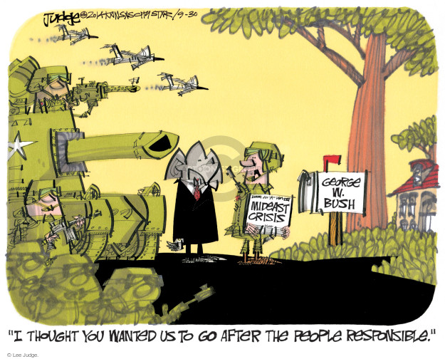 Lee Judge  Lee Judge's Editorial Cartoons 2014-09-30 international crisis