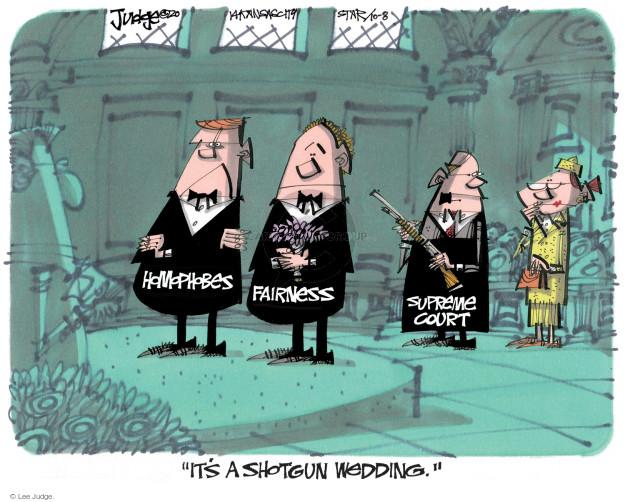 Lee Judge  Lee Judge's Editorial Cartoons 2014-10-08 supreme court justice