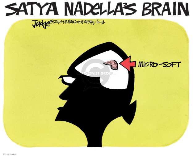 Satya Nadellas Brain. Micro-soft.
