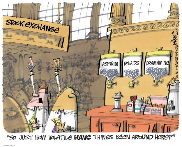 Lee Judge  Lee Judge's Editorial Cartoons 2014-10-15 stock market