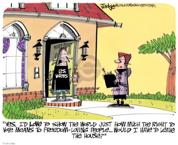 Lee Judge  Lee Judge's Editorial Cartoons 2014-11-02 voting rights act