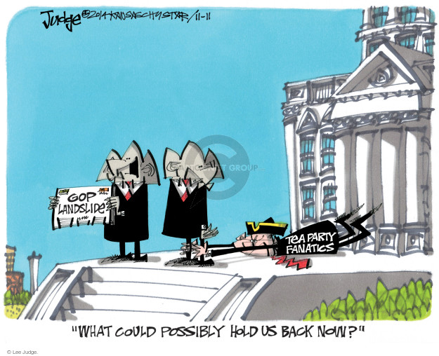 Cartoonist Lee Judge  Lee Judge's Editorial Cartoons 2014-11-11 conservatism
