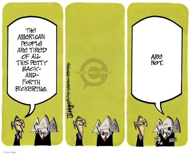 Lee Judge  Lee Judge's Editorial Cartoons 2014-11-18 argue